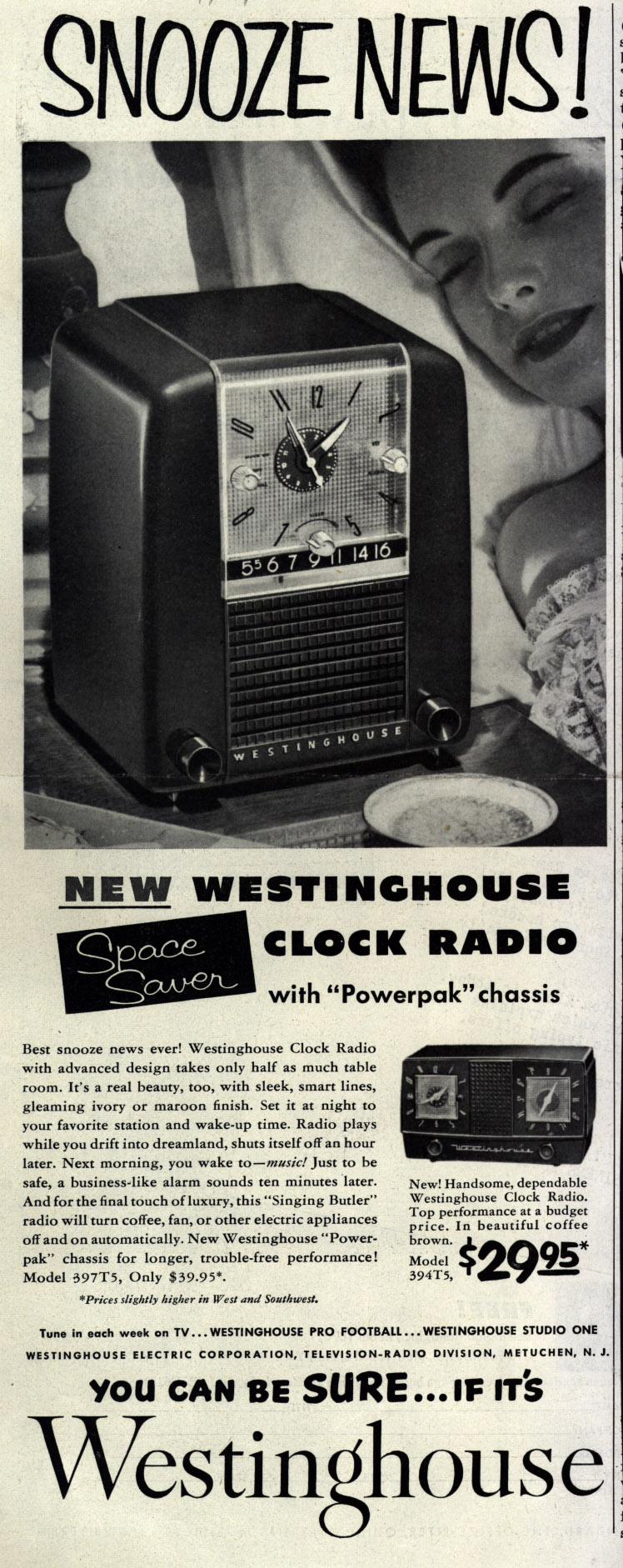 Snooze_News_New_Westinghouse_Clock_Radio