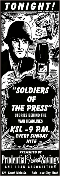 Soldiers of The Press spot ad from Dec 13 1942