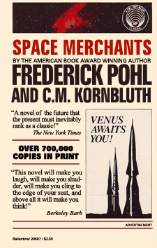 Space Merchants paperback, ca. 1960