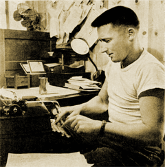 Mickey Spillane at work circa 1952
