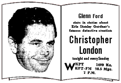 Christopher London spot ad from February 12 1950