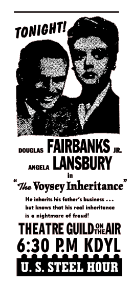 Spot ad for The Voysey Inheritance from November 12 1950