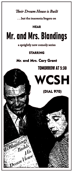 Mr. and Mrs. Blandings spot ad from January 20 1951
