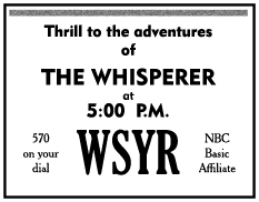 The Whisperer Spot Ad from July 1 1951