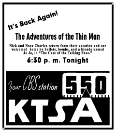 Spot ad announcing return from Summer Break over CBS, dated 46-08-09