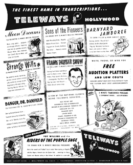 Strange Wills was marketed and syndicated by Teleways prior to Warren William's purchase of the series shortly before his death in 1948.