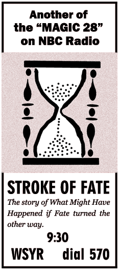 Stroke of Fate Spot Ad from 53-11-15