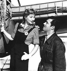 Ann Sothern and James Craig in a publicity still from 1943's Swing Shift Maisie