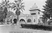 Tearle's famous home, one of the first in the Hollywood subdivision of Los Angeles