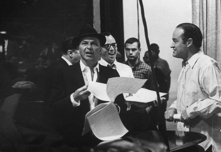 Bob Hope and Frank Sinatra rehearse for The Bob Hope Show, 1962