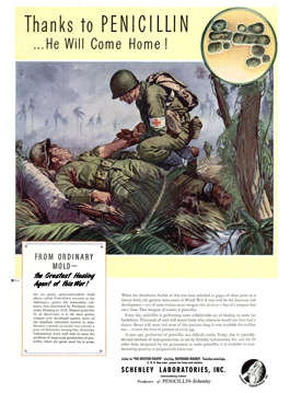 Schenley Labs' famous 1944 magazine ad