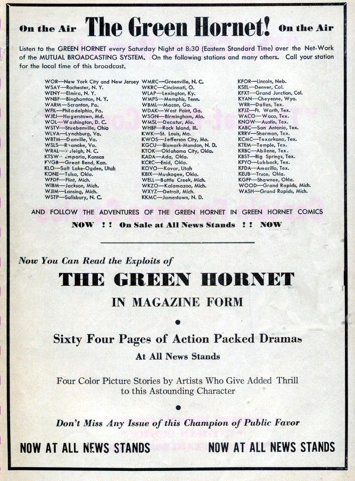 The Green Hornet.