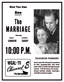 Spot Ad for the NBC Television version of The Marriage, ca. 1954