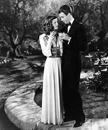 James Stewart and Katharine Hepburn in The Phildelphia Story (1940)