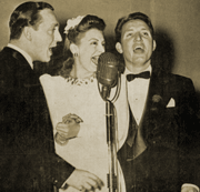 The three Smoothies--Rosalind 'Babs' Stuart and brothers Charlie and Little Ryan--served as the vocalists for The George Burns and Gracie Allen Show