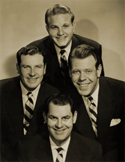 The popular harmonizing group The Sportsmen Quartet became 'The Swantet' for the Swan Soap runs of the Burns and Allen Program
