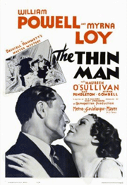 1934's The Thin Man, starring Myrna Loy and William Powell