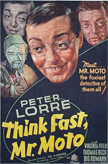 Peter Lorre stars as Mr. Moto in one of eight Mr. Moto features between 1937 and 1939