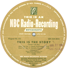 The National Broadcasting Company (NBC) also produced a series of informational 10-minute 'bumpers'during the mid to late 1950s titled 'This Is The Story.' The NBC series was not related to the AFRS This Is the Story series.