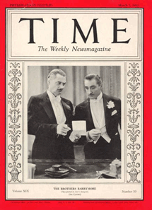 Lionel and John Barrymore on the cover of Time Magazine March 1931