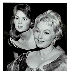 Ann Sothern and her beautiful daughter, Tisha Sterling circa 1962