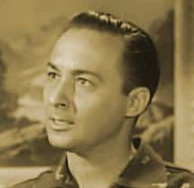 Tony Barrett circa 1954 as Brian Race in The Lone Wolf Television program