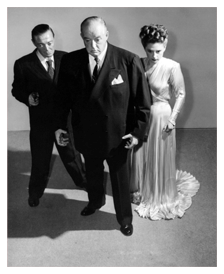 Lorring with Sydney Greenstreet and Peter Lorre in 1946's The Verdict