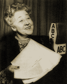 Verna Felton before ABC mike circa 1954