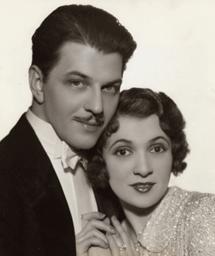 Vinton Hayworth with actress Donna Dameril circa 1936