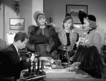 Wally Maher as a court clerk preparing to pass around Bob Hope's late alimony payments to his three ex-wives in The Big Broadcast of 1938
