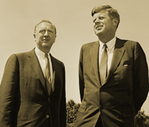 Walter Cronkite with President John F. Kennedy from 1963