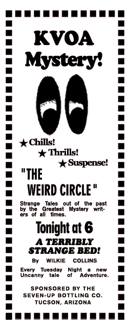 7-Up-Sponsored 'The Weird Circle'  spot ad, circa 1945
