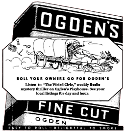 Weird Circle spot ad for Ogden's Fine Cut from April 5 1944