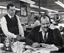 William Conrad and Jack Webb, in Webb's Film, --30-- (1959)