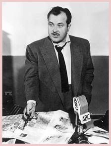 William Conrad, for ABC, ca. 1957