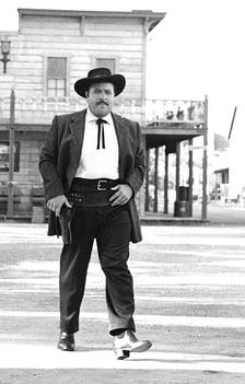William Conrad as Matt Dillon, ca. 1953 (Courtesy of Harry Bartell)