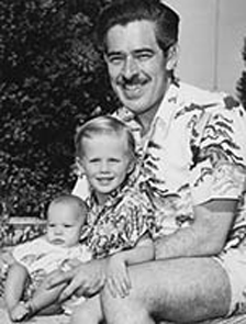 William N. Robson, with sons, ca. 1959
