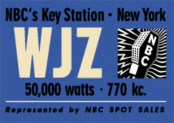 WJZ, New York became the early Blue Network's Key Station