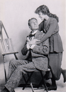 Helen Hayes with famed Stage actor William Gillette in 1918