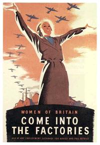 Women of Britain poster circa 1942