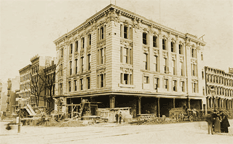 The YMHA's first permanent facility at 92nd Street and Lexington under construction in 1900