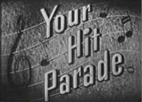"""""""So long for awhile. That's all the songs for awhile... So long to Your Hit Parade... And all the songs that you picked to be played.... So Long."""" (""""Your Hit Parade"""" debuted tonight on NBC in 1935)."""